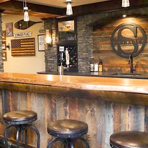 fancy wooden bar